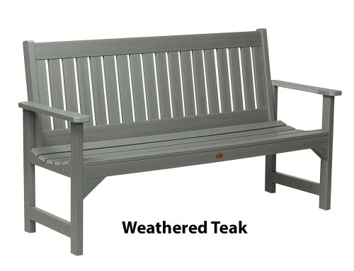Phat Tommy Outdoor Recycled Poly Highwood Lehigh Bench Made in the USA, Eco-Friendly Patio Furniture