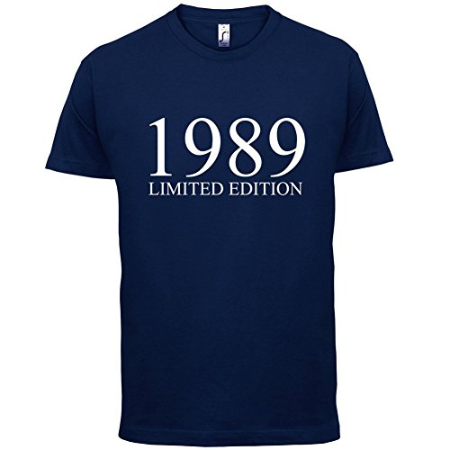 1989 Limierte Auflage / Limited Edition - 28. Geburtstag - Herren T-Shirt - Navy - XS