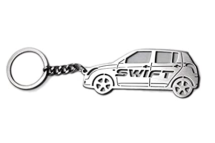 Amazon.com: Keychain With Ring For Suzuki Swift 2005- Steel ...