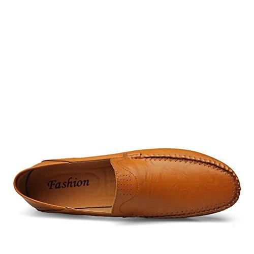 Mocasines de Meimei shoes Los Antideslizantes los de liviano y tamaño Sobre se los Mocasines Yellow Brown liviano Los Color cómodos EU Hombres Zapatos Estilo 44 Deslizan qqAZwEr