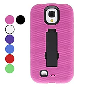 JAJAY-ships in 48 hours Protective Hard Case with Stand for Samsung Galaxy S4 I9500 (Assorted Colors) , Purple