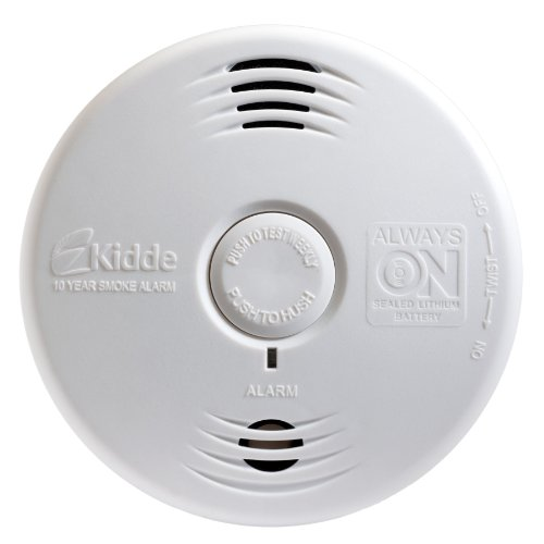 Kidde P3010B Worry-Free Bedroom Photoelectric Smoke Alarm with Voice Alarm and 10 Year Sealed Battery - Kidde Photoelectric Smoke Alarm