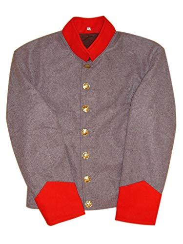 10Code US Civil War Confederate Artillery Shell Jacket (46) ()