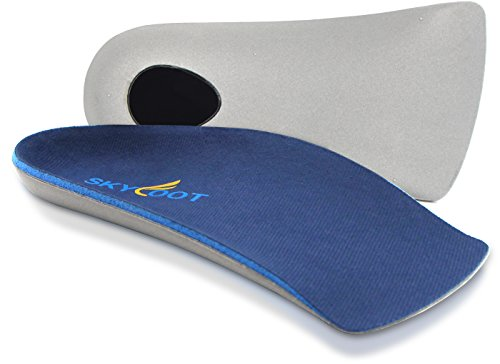 Skyfoot's 3/4 Orthotics Shoe Insoles - Arch Support Correct Over-pronation, Fallen Arches, Flat Feet Metatarsal Support Insoles (M- W9-10.5 | M7.5-9)