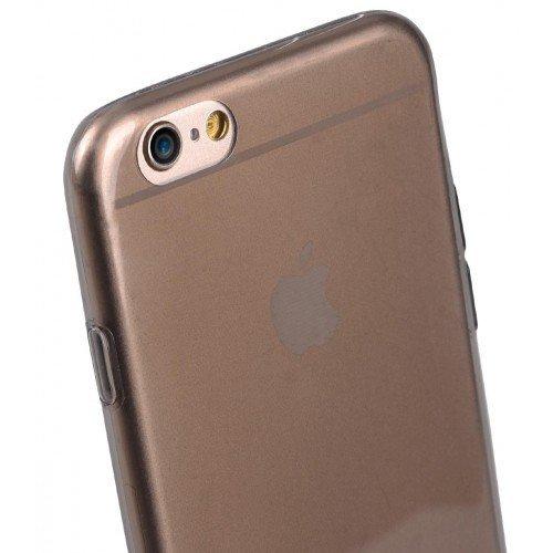 Melkco Kuboq Ultra Thin TPU Case Clear Shadow mit screen protector für Apple iPhone 6 11,3 cm (4,7 Zoll) schwarz