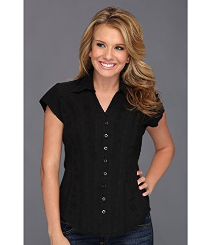 Scully Western Lady Shirt - Scully Women's Cantina Celia Cap Sleeve Top, Black LG