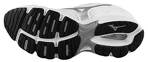 Mizuno Scarpa Running Sneaker Donna Wave Resolute 2 Bianco Argento 36,5 Bianco Argento