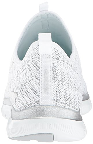 White Skechers 2 Appeal Silver Sneaker Donna 0 Infilare Insights Flex PP85q4E