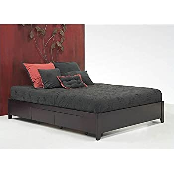 Amazoncom California King Platform Bed with 4 Drawers Kitchen