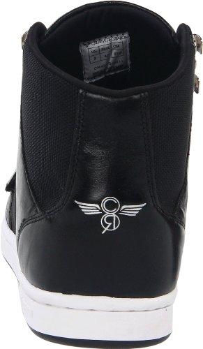 Creative Recreation CESARIO CR412 - Zapatillas de cuero para hombre Negro (Schwarz/SHINY BLACK BALLISTIC)