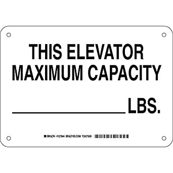 Brady 127944 Machine And Operational Sign Legend This Elevator