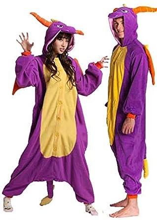 Onesie World Unisex Animal Pyjamas Cosplay Spyro Dragon Adult Onesie  Nightwear Halloween Carnival Novelty (S aaf075978