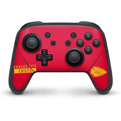 Skinit NFL Kansas City Chiefs Nintendo Switch Pro Controller Skin - Kansas City Chiefs Red Performance Series Design - Ultra Thin, Lightweight Vinyl Decal Protection