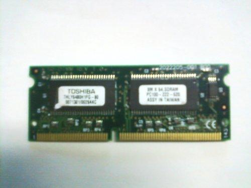 Toshiba THLY6480H1FG-80 Laptop Memory 64 MB SODIMM, PC100, 8M x 64 ()