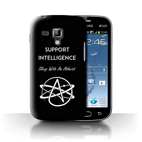 Phone Case for Samsung Galaxy S Duos 2/S7582 Atheist Anti-Religion Support Intelligence Design Transparent Clear Ultra Slim Thin Hard Back Cover
