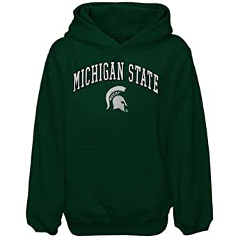 NCAA Michigan State Spartans Youth Girls Tackle Twill Pullover Hoodie - Green (Large)