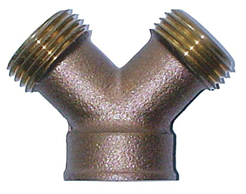 Brass Hose Y Connector, 3/4'' GHT Connection - pack of 5