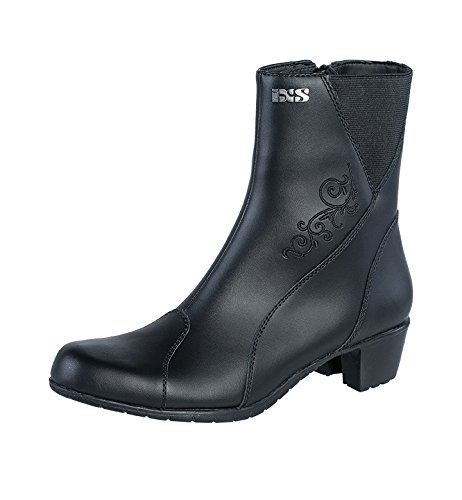 IXS Women's Lea II Boots (Black, Size US 8.5/Size EU 39) (Nappa Stretch Footwear)
