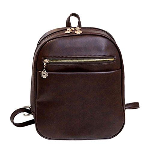 Vintage Style Men's Boys Casual Canvas Shoulder Bag Cross-body Messenger Bag Satchel Schoolbag (Coffee) - 4