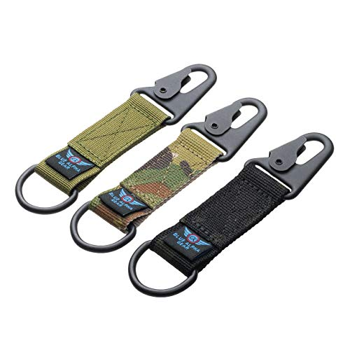 Amazon.com: Blue Alpha Gear - Llavero con anilla en D ...