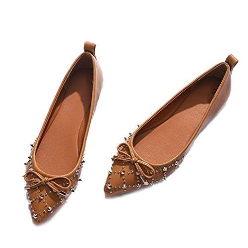 (Kyle Walsh Pa Women Flats Shoes Pointed Toe Ladies Casual Moccasins Autumn Spring Shoes)