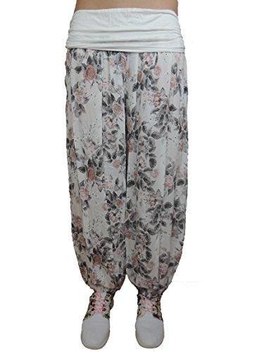 11 verschiedene Farben Damen Pumphosen Gr. 42 44 46 48 50 52 54 56 Weiß