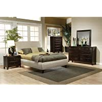 Coaster Home Furnishings 300369KW Casual Contemporary Bed, King, Beige