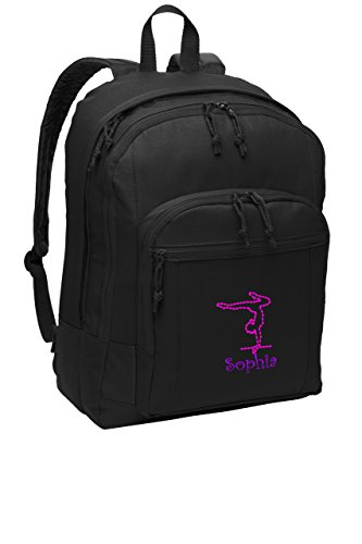 Gymnastics Personalized School Sport Backpack (Personalized Girl Backpacks)