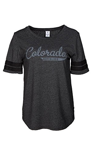 Official NCAA University of Colorado Buffaloes CU Fight Buffs Women's Fay Triblend Stylish Football T-Shirt