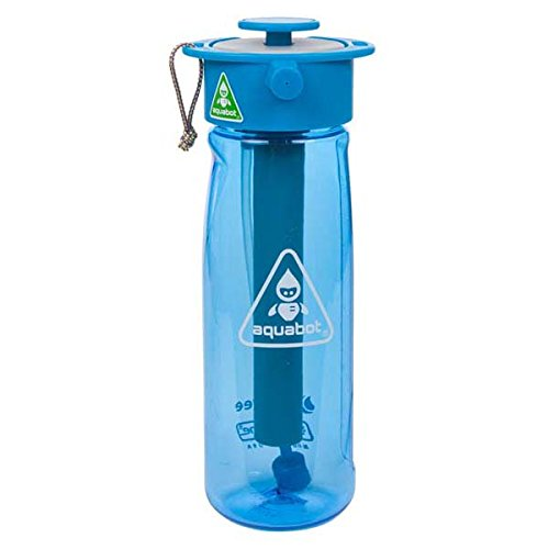 Lunatec Aquabot Sport Water Bottle – a pressurized Mister, Camp Shower and Hydration in one. BPA Free. Blue 650mL