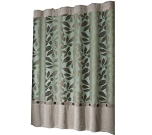 Amazon Com Veratex Ombre Leaves 72 Inch By 75 Inch Shower