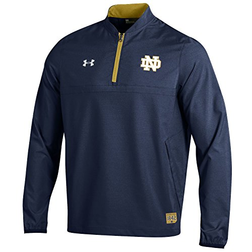 Notre Dame Irish Jacket - Under Armour NCAA Notre Dame Fighting Irish Adult Men NCAA Men's Sideline Long sleeve Cage Jacket, Large, Navy