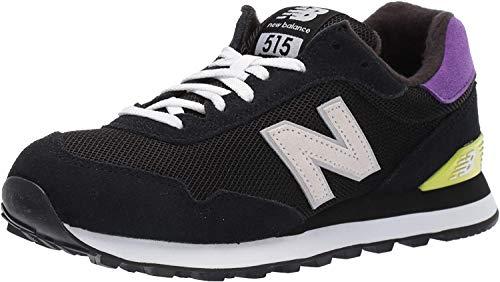 New Balance Women's 515 V1 Sneaker, Black/Prism Purple/Gold Rush, 5 W US