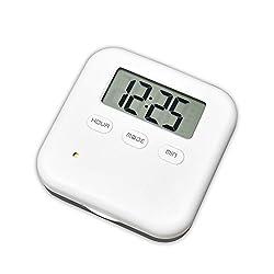 U-Trak Pill Box Alarm Pill Organizer Mini Portable Daily Pill Case with Digital Alarm Clock Reminder for Pills/Vitamin/Supplements Travel Outdoor 4 Compartments Black