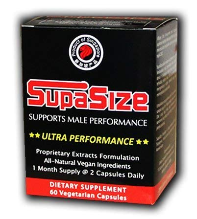 Male Enhancing Pills Increase Size | Natural Testosterone Booster for Men | Boost Bedroom Confidence and Stamina | Take for 90 Days for Maximum Increase | 1 Month Supply, 60 Capsules by SupaSize by Supa Biotech