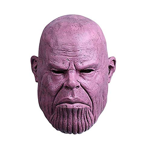 Avengers Infinity War Cosplay Thanos Mask.Halloween costumes.Funny and weird latex mask.Used for Halloween props,friends play pranks on each other.Head circumference can be worn between 54cm and 62cm. by KTRO (Image #6)