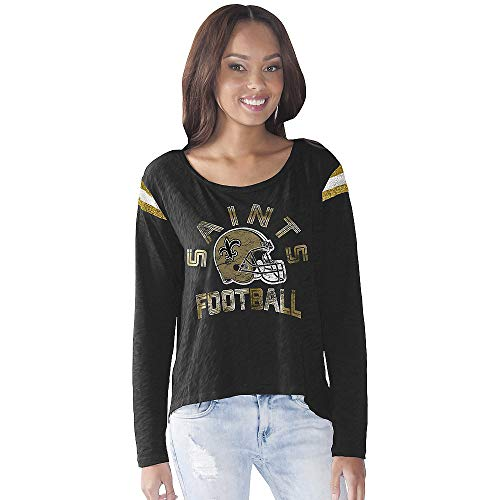 G-III Sports Orleans Saints Women's Cascade Long Sleeve T-Shirt XX-Large