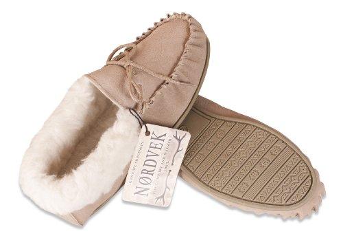 3bd86ce66f07 Nordvek Premium Ladies Genuine Lambswool Moccasin Slippers With Wool ...