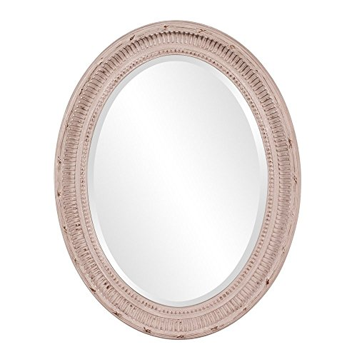Howard Elliott 56063 Nero Oval Mirror, Rustic Stone Gray