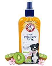Arm & Hammer Super Deodorizing Spray for Dogs in Kiwi, Best Odor Eliminating Spray for All Dogs and Puppies, 2 Pack
