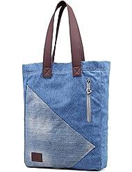 Genbagbar Lightweight Canvas Tote Bag Weekend Bags Casual Handbag for Women