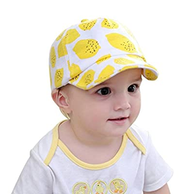 Vertily Hat Children Adjustable Cute Lemon Fruit Baseball Snapback Sunscreen Cap by Vertily