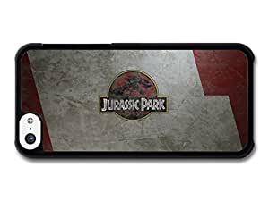 AMAF ? Accessories Jurassic Park Red Logo on Metal Surface case for iPhone 5C hjbrhga1544