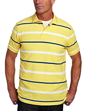 Men's Striped Anchor Deck Polo Shirt
