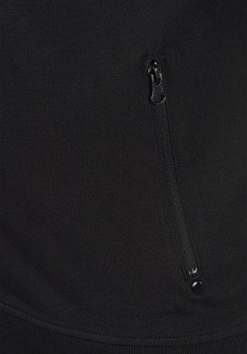 Pile 9000 Black In Taras Cerniera Fodera Senza Stampa Giacca Felpa Cappuccio Da Uomo solid Con POqq7