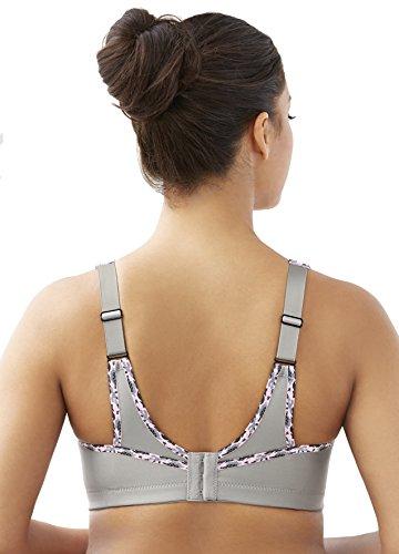 Glamorise Women's Plus-Size No-Bounce Cami Sport Bra, Soft Grey, 34D by Glamorise (Image #2)