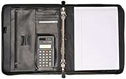 Buxton Zip-Around Cal-Q Folio, Smooth Cover, Calculator, 3\