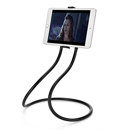 Cell Phone Holder, Tablet Holder Ipad Stand Universal Phone Stand, Multifunction Lazy Bracket, DIY 360° Rotating Gooseneck Mount wiith Flexible Long for Ipad, Smart Phone