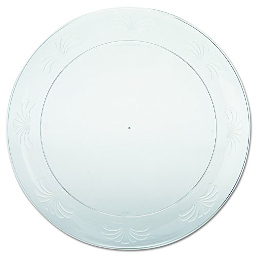 WNA DWP9180 Designerware Plastic Plates, 9 Inch Diameter, Clear, Round, Packs of 10 Plates (Case of 18 Packs) by Designer Ware