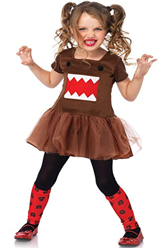 Mememall Fashion Japanese Cartoon Character Domo Dress Petticoat Outfit Child Costume (Cartoon Police Hat)